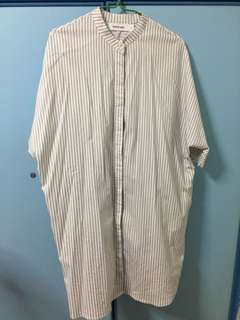 Strip button shirt (oversize)
