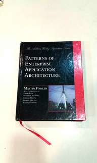 Patterns of enterprise application architecture hard cover new architecture book