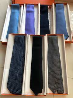 Hermes Tie with box and ribbon 🎀 啱曬送禮,自用皆宜