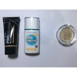 Maybelline liquid powder dan LA girl pro bb cream