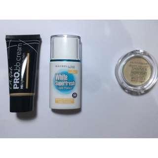 Maybelline liquid powder dan LA girl pro bb cream