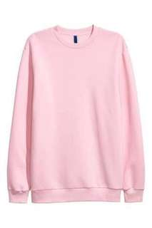 H&M oversized sweater pink hype !!