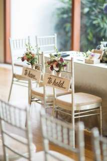 To Have & To Hold Wedding Chair Signs