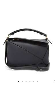 Loewe puzzle bag small grained leather