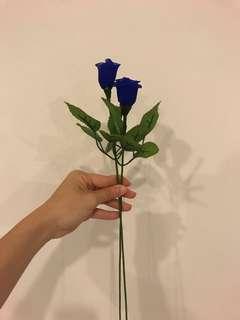 Handmade Flowers (Blue Roses)