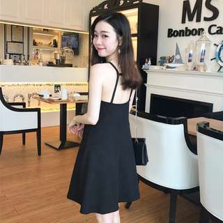 [ READY STOCK ]  BACKLESS A LINE DRESS