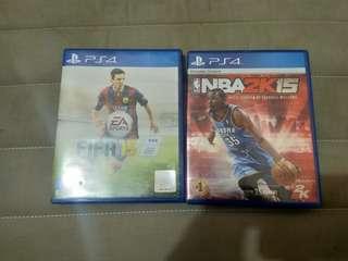 Kaset PS4 NBA 2K15 dan FIFA 15