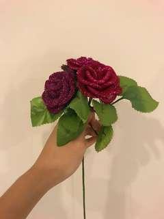 Handmade Flowers (Glitter Roses)