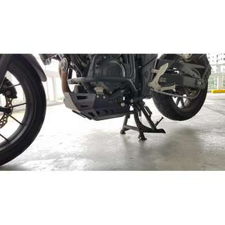 SRC Skidplate for CB400x (2013 and onwards) (Available in Black or Silver)