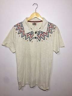Power to the people navajo collar t-shirt