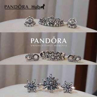 PANDORA SET EARRING+RING