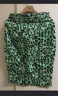 F21 Mint Leopard Skirt