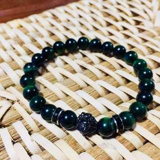 Black Lion - Green Beads