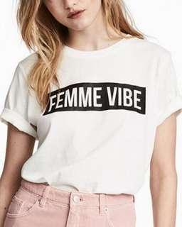 H&M femme vibe cool shirt M