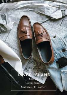 River Island PU Leather Loafers
