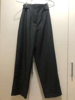 台灣設計品牌 Marjorie瑪喬麗 鐵灰 高腰老爺長褲 超質感 英倫風 vintage