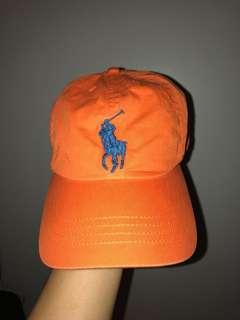Ralph Lauren Cap (Orange & Blue)