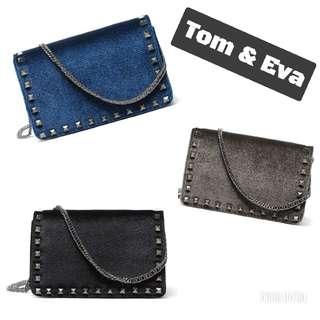👜 Original Tom & Eva Sling Suede Studded Bag 👜