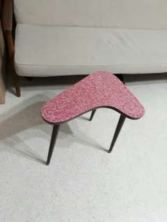 vintage mid century boomerang side table w pink cloud formica