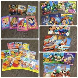 ($25 for all) Disney Bilingual Chinese/HanyuPinyin/English Storybooks