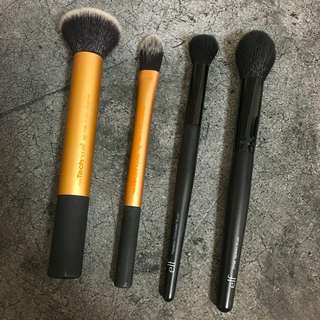 Makeup Brushes - Elf and Real Techniques