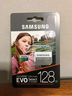 BNIB sealed Samsung Evo Select Highspeed MicroSD - 128GB