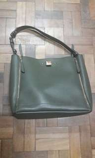 2-in-1 Parfois Combat Green Tote and Sling Bag