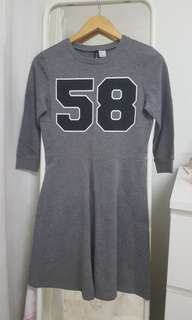 H&M Grey Jersey Number Dress