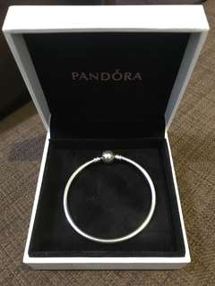 Authentic Pandora Sterling Silver Bangle Bracelet 6.7 in :: 17 cm