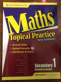 Singapore syllabus sec 1 , 2 , 3 maths and english practice books