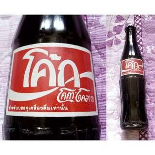 90年中前泰國280毫升紅標可口可樂玻璃樽一枝
