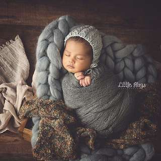 Alas Foto Bayi / Baby Prop / Photo Prop Rajut Wool