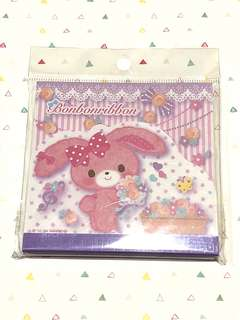Bonbonribbon die cut note pad