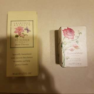 Crabtree & Evelyn Summer Hill Hand Theraphy and Rosewater eau de toilette