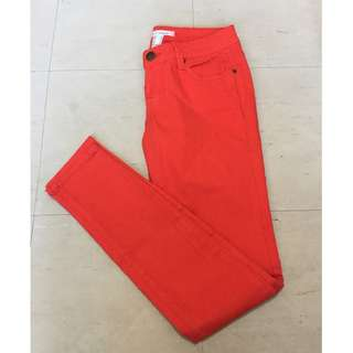 Forever 21 Orange Skinny Jeans