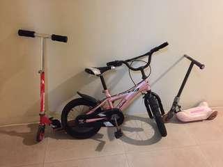 Bike & scooter set