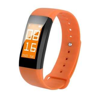 AC1105 - M99防水智能手環BT手錶心率監測器運動健身活動追踪卡路里計數腕帶(橙色)