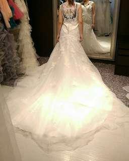 🚚 😍華麗手工蕾絲-魚尾婚紗