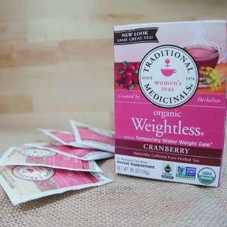 去水腫恩物 - Traditional Medicinals, Weightless® Cranberry蔓越莓味, .85 oz (24 g)