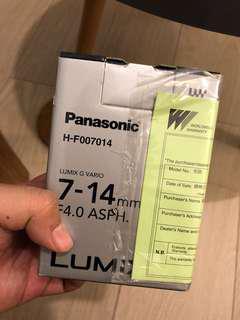 Panasonic 7-14mm f4.0 asph