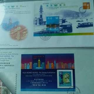 香港郵展首日封(每封)