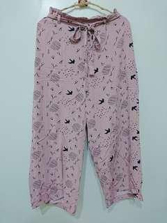 🚚 粉色綁帶寬褲#畢業兩百元出清