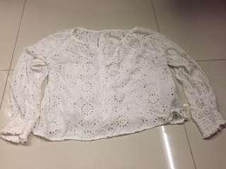White Long sleeve TOP (brought in Japan)