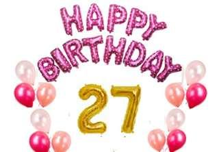 Basic Birthday Party Decors (Pink Bundle) Set5