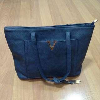 New:Parisian blue tote shoulder bag