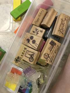 Packet of ink stamps and pads