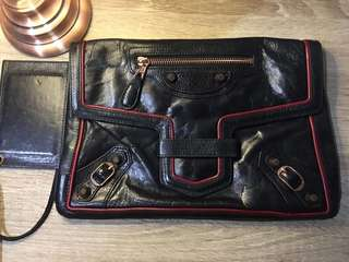 Authentic Balenciaga clutch bag