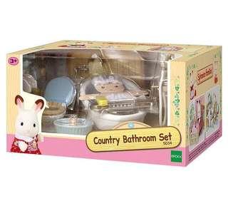 Brand New Sylvanian Families Country Bathroom Set 5034