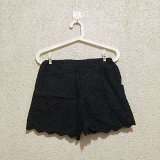 Uniqlo Black Eyelet Shorts
