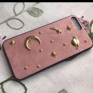 粉色宇宙電話殼 iPhone 7plus /8plus 包郵